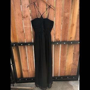 Oleg Cassini Black Guest Maxi Party Dress